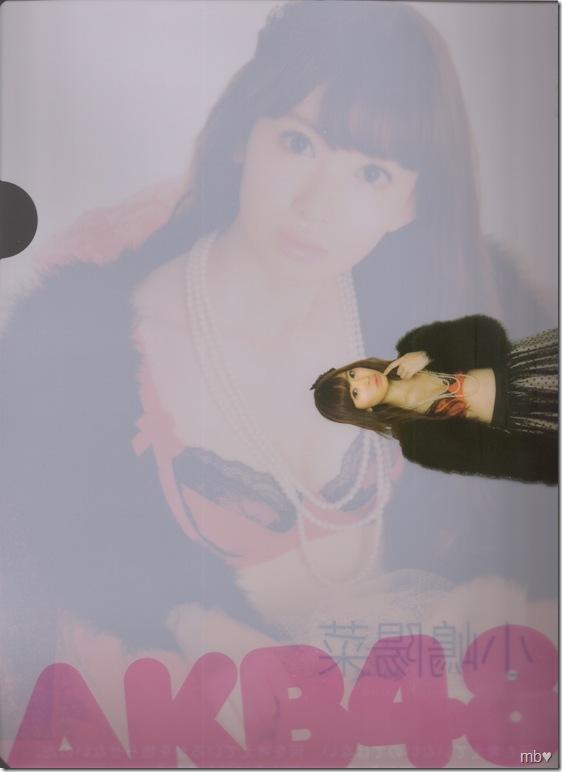 Kojima Haruna 2011 calendar clear file (back)