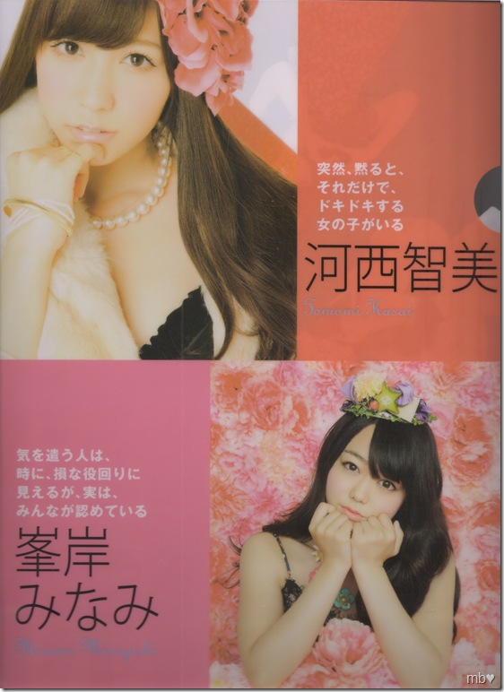 Kasai Tomomi & Minegishi Minami 2011 calendar clear file (front)