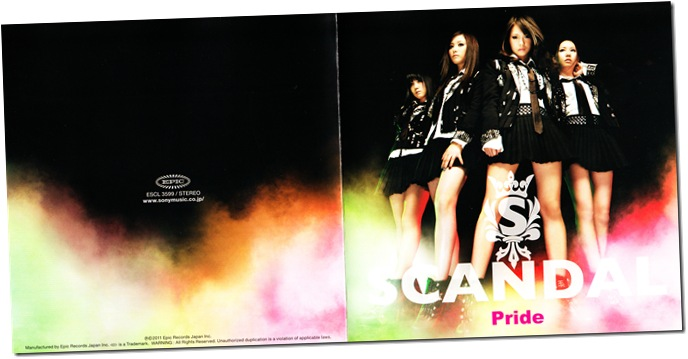 "SCANDAL ""Pride"" jacket scan"