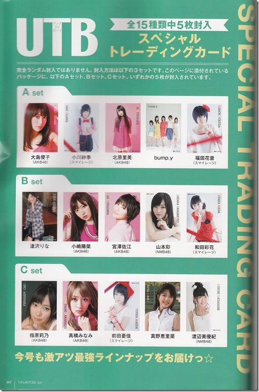UTB Vol.202 April 2011 trading card sets