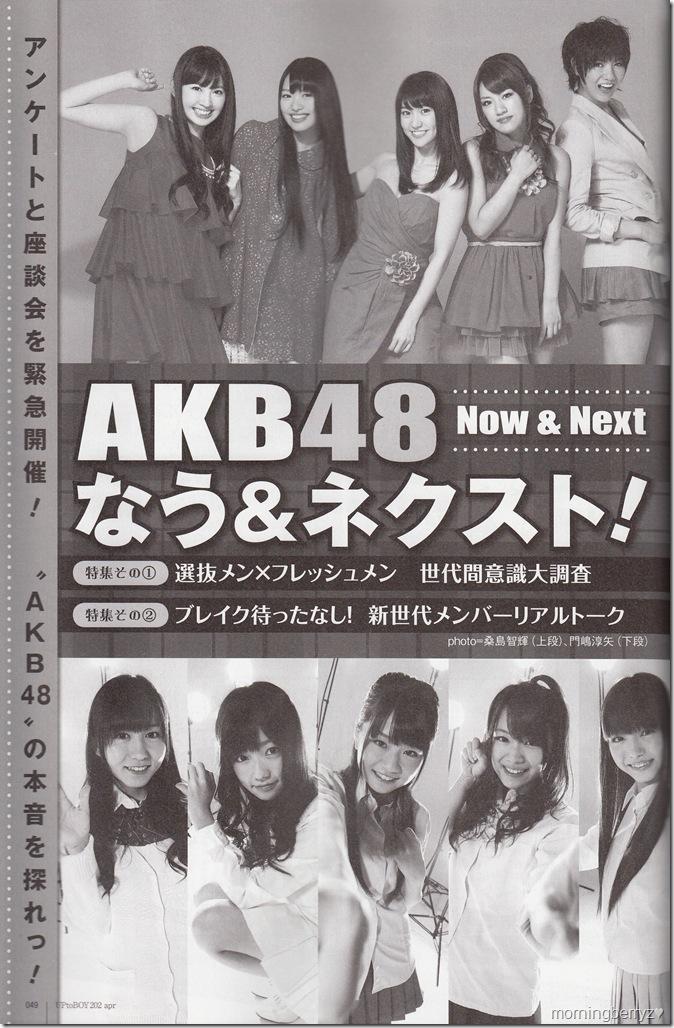 AKB48 in UTB Vol.202 April 2011