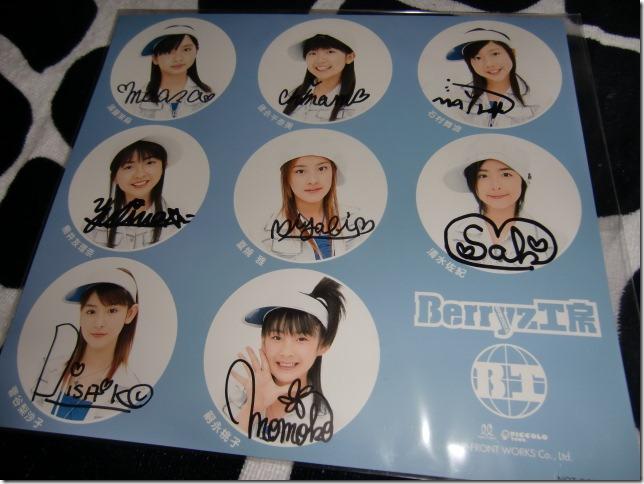 Berryz Koubou Piririto yukou! single event (members complete autographs)
