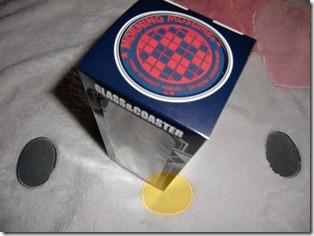 Morning Musume glass & coaster set