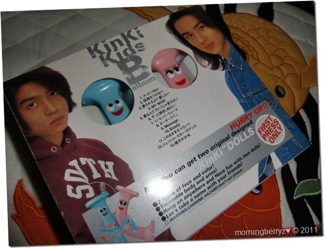 Kinki Kids B album (first press) with Kinki dolls♥