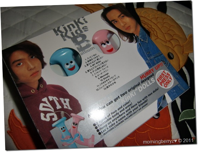 Kinki Kids B album (first press) with Kinki dolls♥