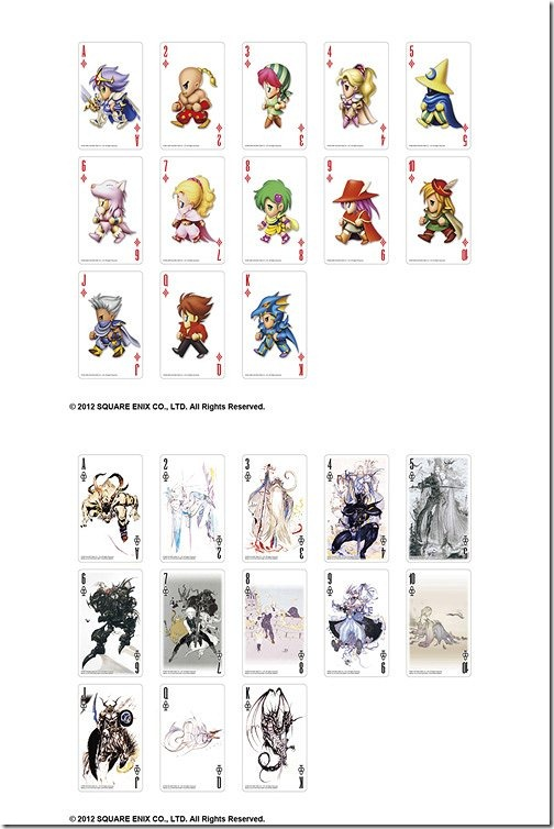 FF 25th anniversary playing cards2