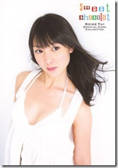 Koike Yui Official Card collection sweet chocolat (23)
