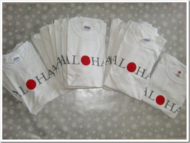 AL♥HA donation T~shirts s, m, L & XL