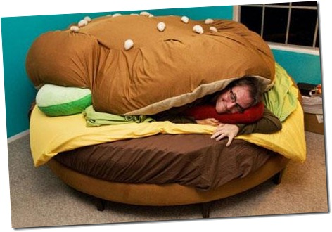 Cheeseburger bed...