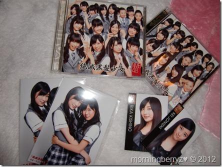 NMB48 debut single Zetsumetsu kurokami shoujo types A & B LE with photo   card extras