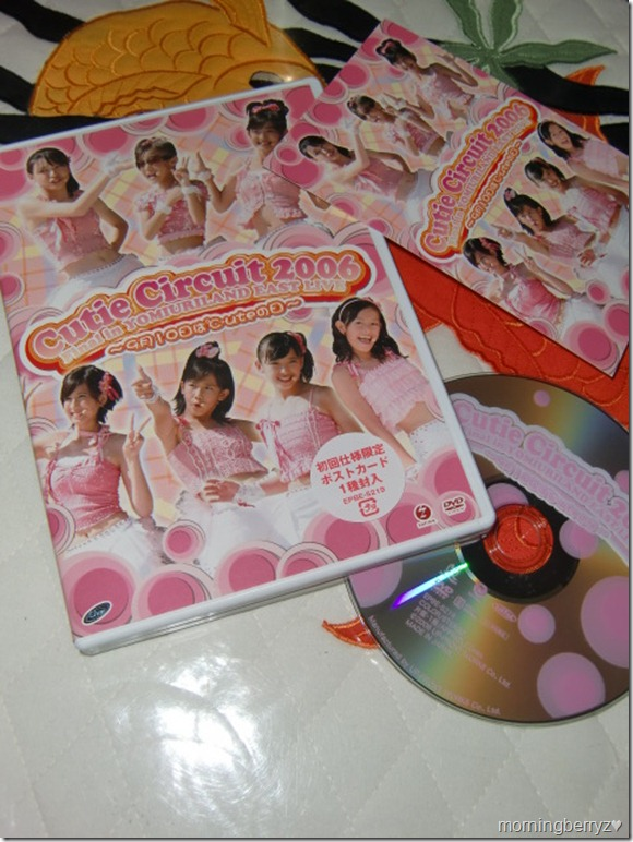 C-ute Cutie Circuit 2006 Final in Yomiuraland East Live DVD with postcard