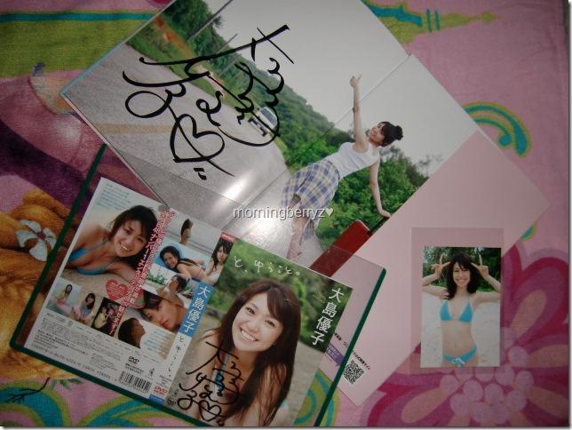 Oshima♥Yuko signed shashinshuu, signed DVD jacket with photo extra