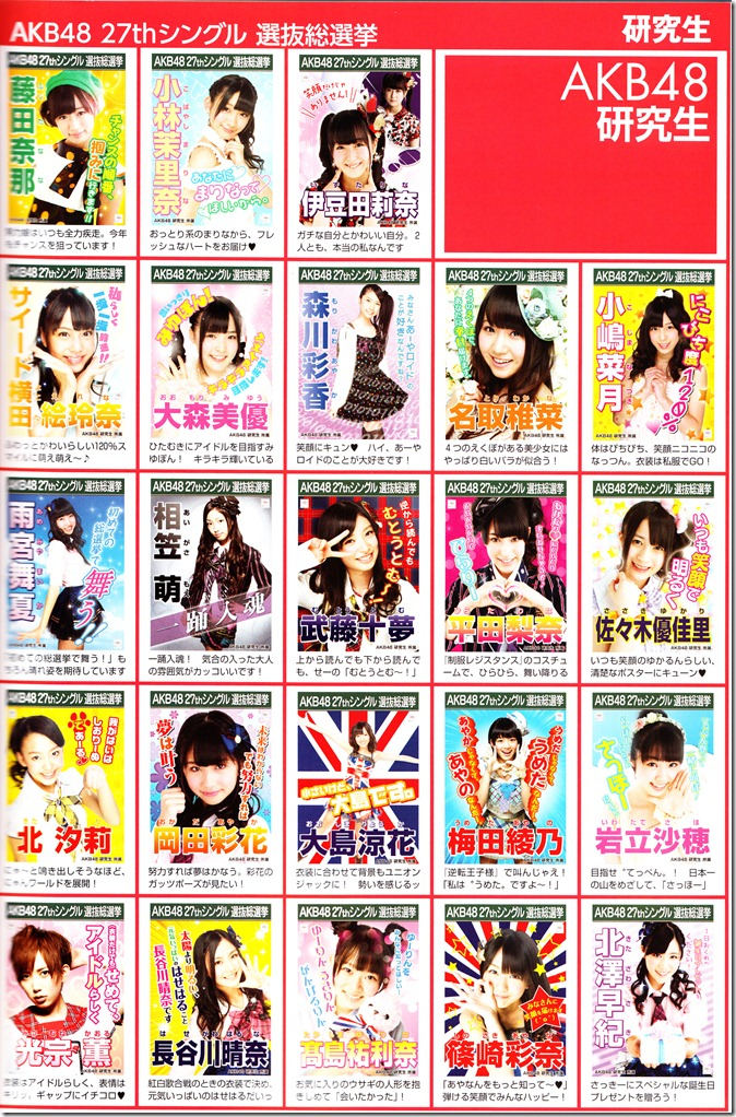 AKB48 2012 Sousenkyo poster complete guide (11)