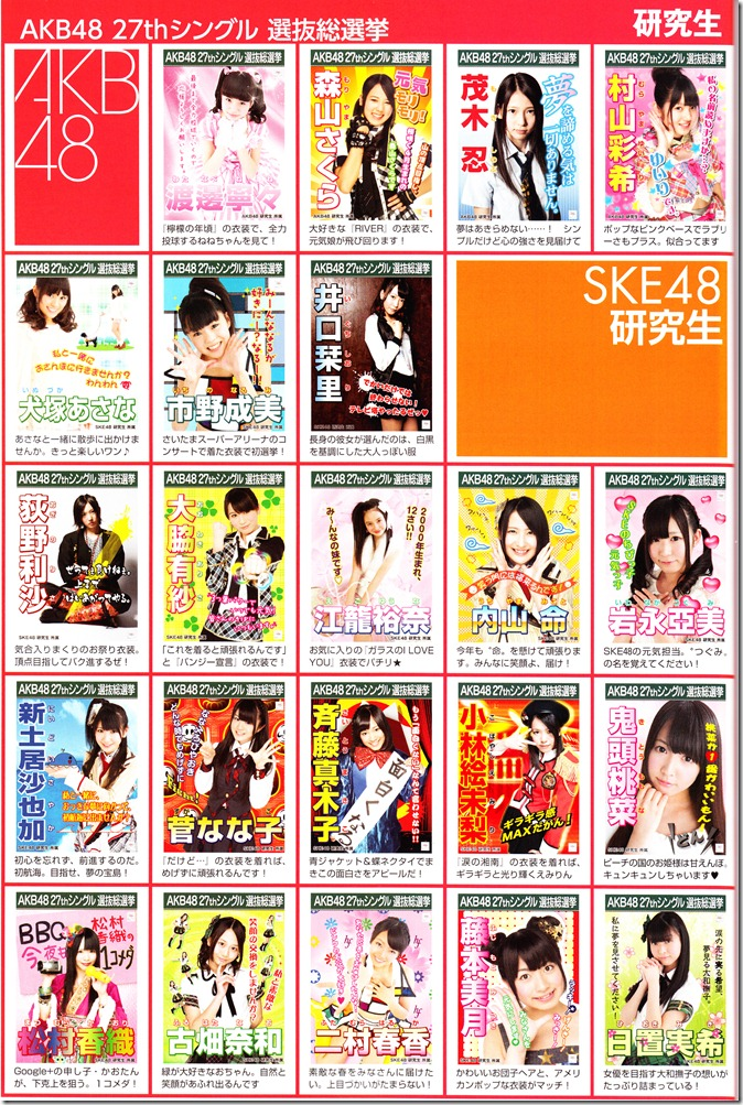 AKB48 2012 Sousenkyo poster complete guide (12)