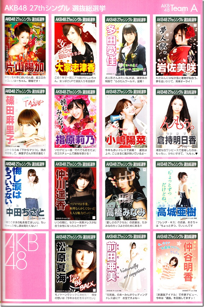 AKB48 2012 Sousenkyo poster complete guide (1)