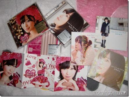 Sashihara Rino Soredemo sukidayo LE types A, B & C with hologram jacket card extras