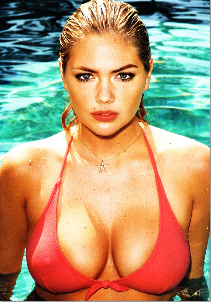 Kate Upton~♥ red, white and sheer...