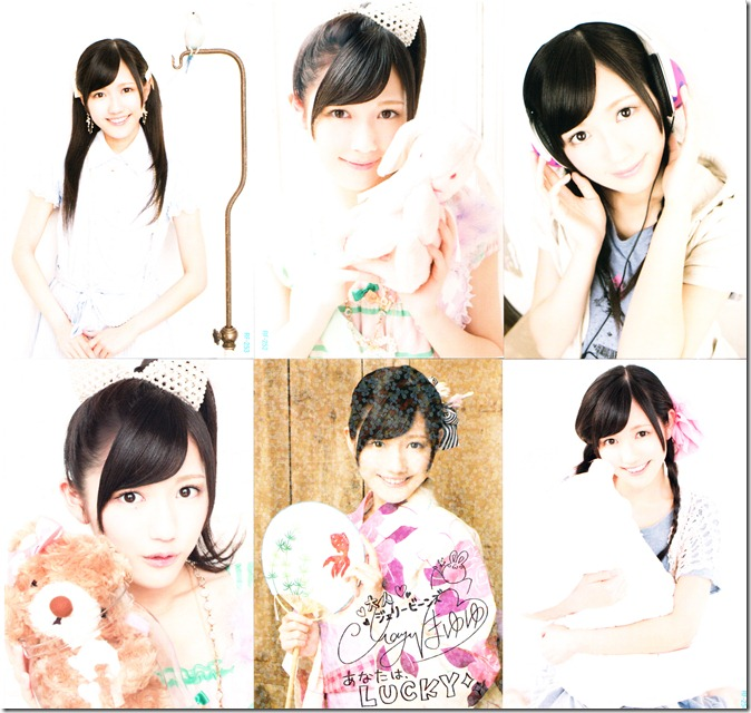 Watanabe Mayu Otona Jelly Beans first press trading cards with special lucky card (the glittery one!)...
