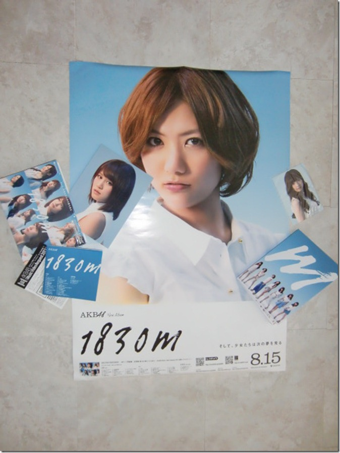 AKB48 1830m 2CD  DVD set with random photo and first press poster
