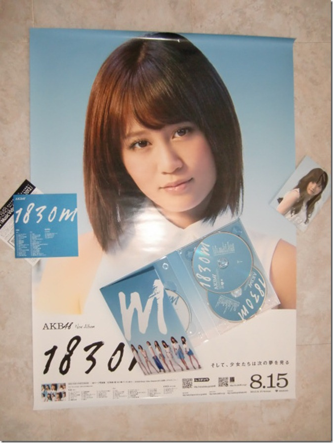 AKB48 1830m 2CD  DVD set with random photo and first pressing poster