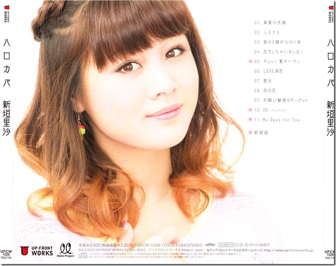 Niigaki Risa Hello Covers (back cover scan)