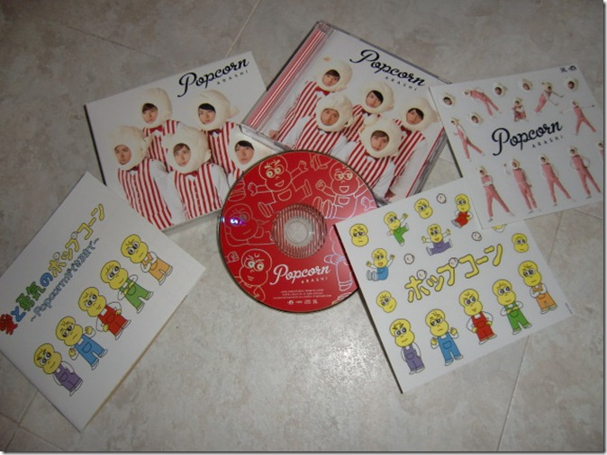 ARASHI popcorn LE with photo booklet and sticker extras....