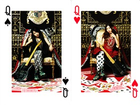 SCANDAL QUEENS ARE TRUMPS prize A playing cards (Queen card scans)