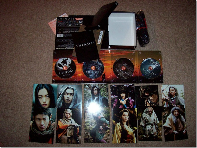 Shinobi Heart Under Blade Premium edition box set with post card set, booklet and T~shirt extras...