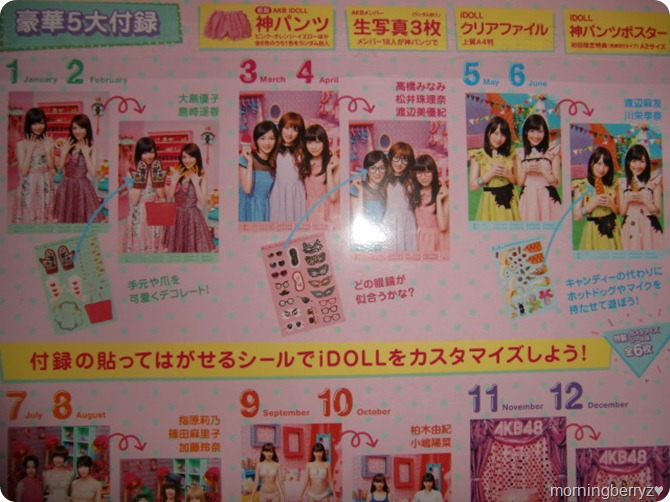 AKB48 2013 Official Calendar Box (outer sleeve back)