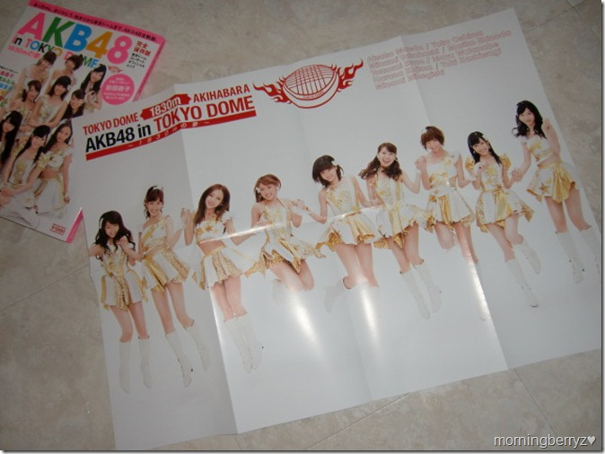 AKB48 in Tokyo Dome 1830m no yume concert official mook with A2 size two sided poster