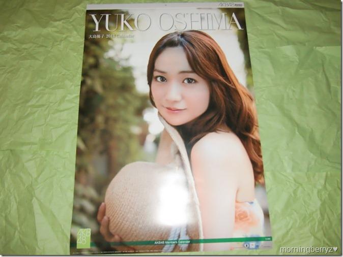 Oshima Yuko 2013 B2 sized calendar complete (1)
