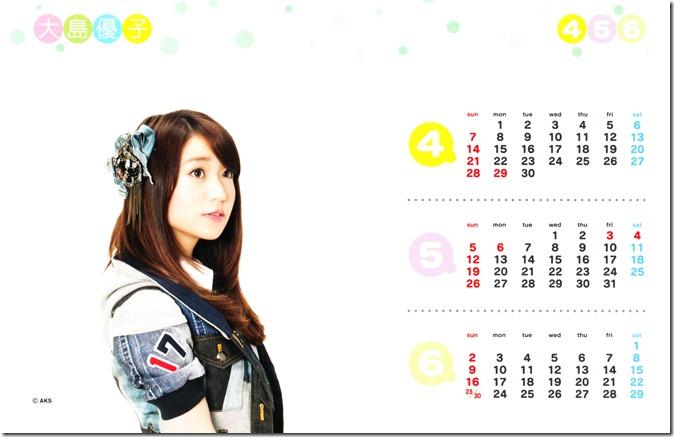 Oshima Yuko 2013 desk top calendar (complete scans) (3)