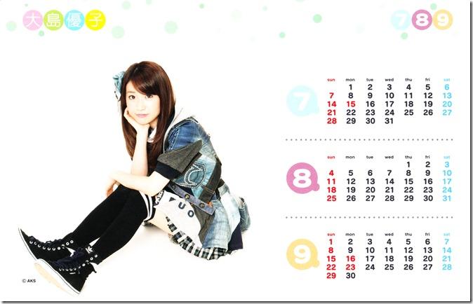 Oshima Yuko 2013 desk top calendar (complete scans) (4)