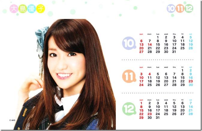 Oshima Yuko 2013 desk top calendar (complete scans) (5)