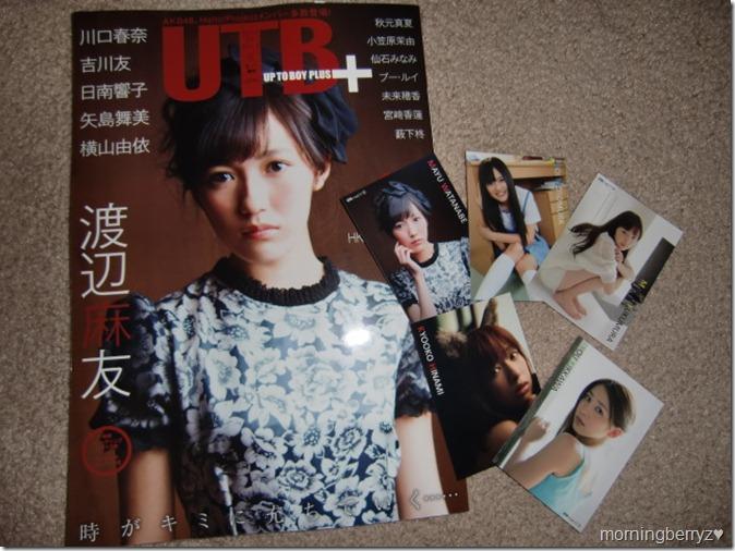 UTB  January 2013 (covergirl Watanabe Mayu) w/ trading card set A