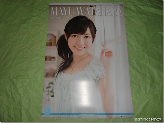 Watanabe Mayu 2013 B2 sized calendar complete (1)