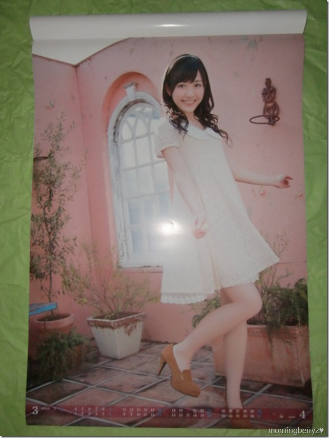 Watanabe Mayu 2013 B2 sized calendar complete (3)