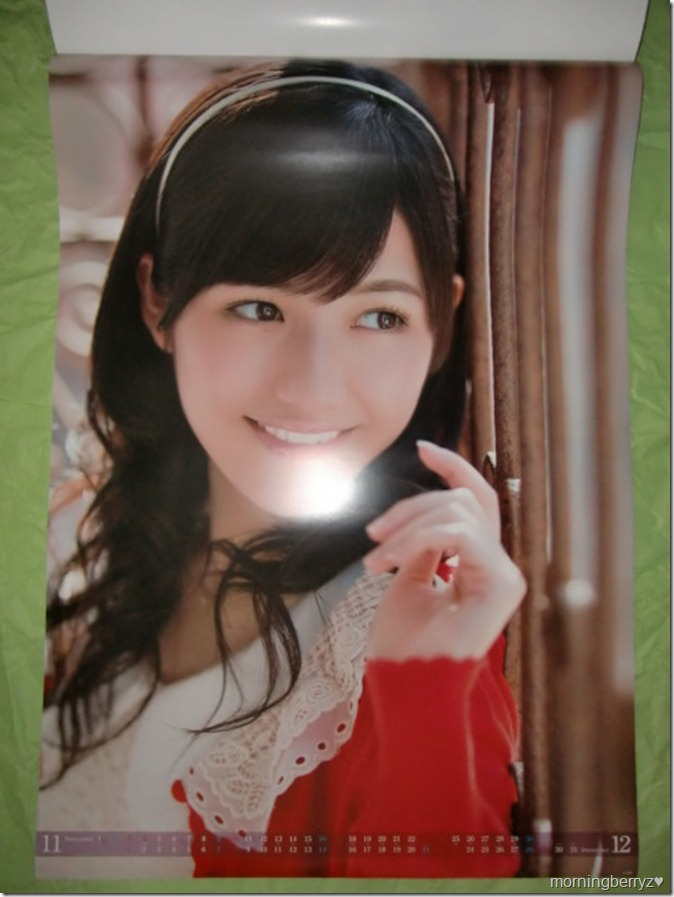Watanabe Mayu 2013 B2 sized calendar complete (7)