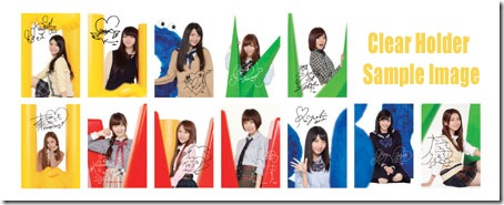 AKB48 clear holder