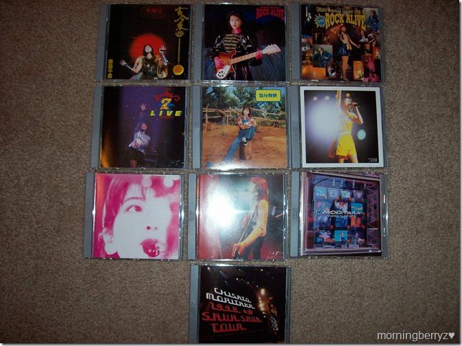 Moritaka Chisato DVD collection...
