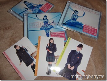 Watanabe Mayu Hikarumonotachi single Types A, B & C with first press photo cards