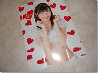Watanabe Mayu♥ two sided BIG poster (Bomb March 2013)
