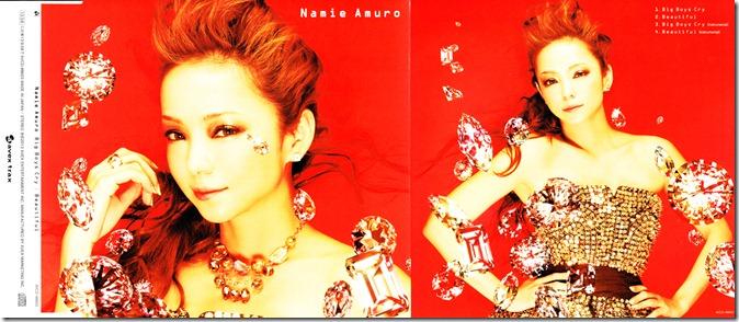 """Amuro Namie """"Big Boys Cry""""/ """"Beautiful"""" single (jacket)"""