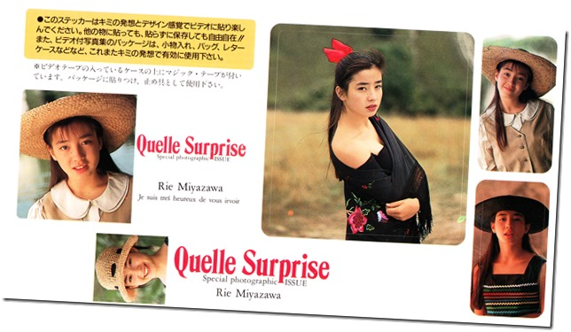 Miyazawa Rie Quelle Surprise Special Photographic Issue Box Set sticker sheet