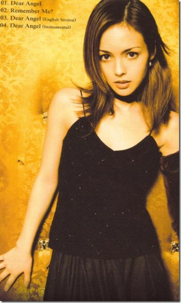 Olivia Dear Angel CD single (back scan)