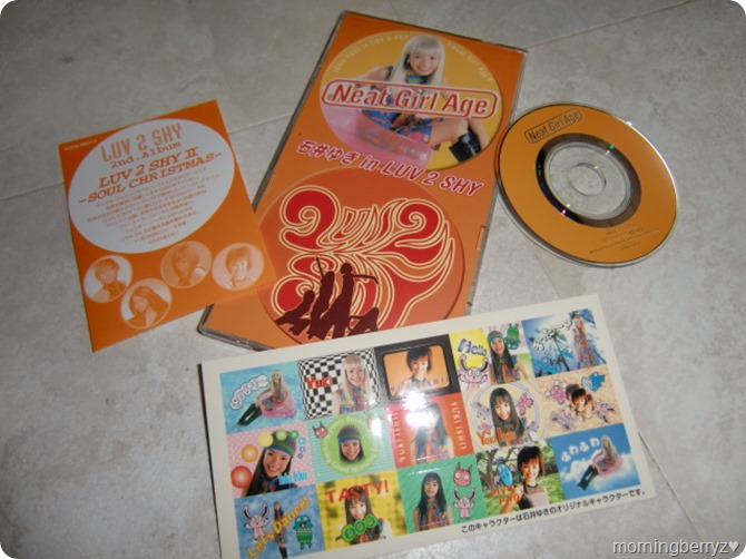 Ishii Yuki in LUV 2 SHY Neat Girl Age CD single with first press purikura stickers