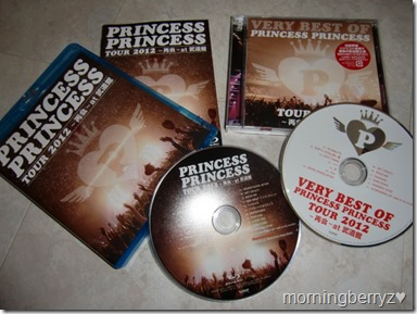 Princess Princess Tour 2012~Saikai at Budoukan Bluray & Very Best of Princess Princess Tour 2012~Saikai~at Budoukan CD album