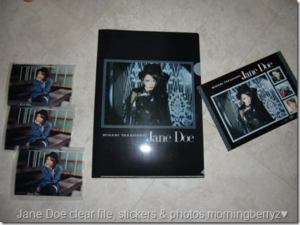 Takahashi Minami Jane Doe single first press clear file and external photo extras