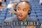Charles Barkley turrible.........