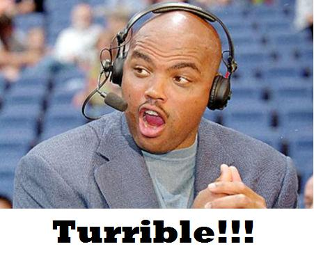 Charles Barkley turrible...